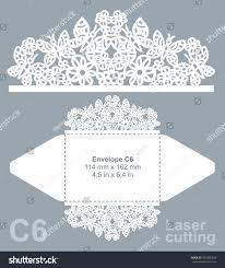 vector die cut envelope template laser stock vector 393866458