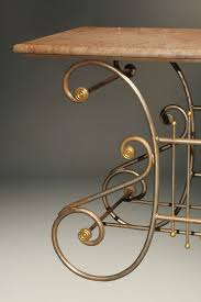 antique french butcher table antique french wrought iron butcherᄡs table