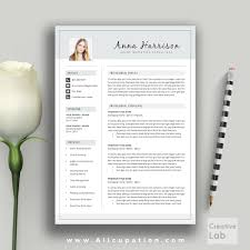 Professional Teacher Resume Template Creative Resume Template Cover Letter Word Modern Simple