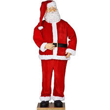Life Size Santa Claus Decoration Life Size Animated Santa With Realistic Face Christmas Decor Over