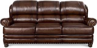 Leather Sofa Lazy Boy Traditional Leather Sofa With Turned Arms And Nail Trim By La