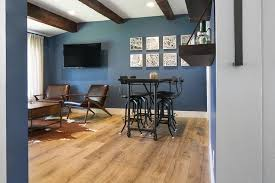 Wall Bar Table Brown And Blue Man Cave With Brown Leather Chairs And Brown