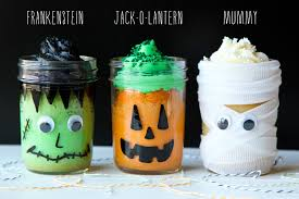 halloween cakes pinterest halloween mason jar mini cakes life made simple