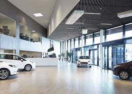 automotive showroom in herning krads archdaily