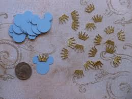 25 small 1 inch baby prince mickey mouse light blue head tiny