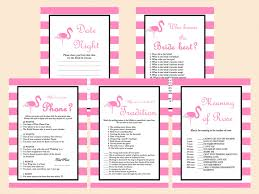 pink flamingo bridal shower game magical printable