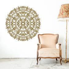 Om Wall Decal Mandala Vinyl by Indian Mandala Wall Decal Yoga Studio Meditation Wall Art