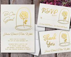 Beauty And The Beast Wedding Invitations Be Our Guest Invite Etsy