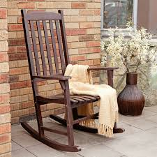 White Slat Rocking Chair by Patio Chairs