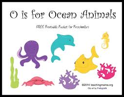 o is for ocean animals letter o printables