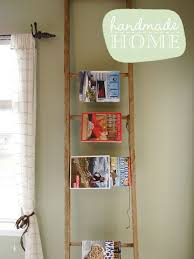 Wood Magazine Ladder Shelf Plans by 20 Diy Magazine Rack Projects