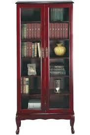 Single Shelf Bookcase Bookcase Antique Single Glass Door Bookcase Meadowbrook 2 Drawer