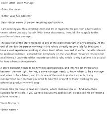 store manager cover letter example for job applications forums