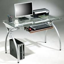 Glass Topped Computer Desk Tempered Glass Top Steel Frame Computer Desk Free Shipping Today