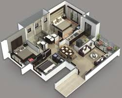 two bedroom home plans fascinating home design 2 bedroom house plans 3d 3 for plan 81