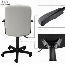 Leather Executive Desk Chair New White Color Modern Adjustable Leather Executive Office