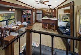 evergreen rv introduces rear kitchen bay hill fifth wheel vogel distinctive for its rear kitchen design featuring a full breakfast bar with raised seating corner