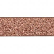 copper ribbon fancy ribbon imitation leather 10 mm copper brown glitter x1 2m