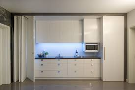 Hide Microwave In Cabinet Hidden Liquor Cabinet Kitchen Contemporary With Basement Kitchen