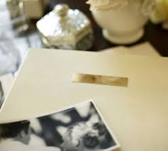 engraved wedding album engravable photo album pottery barn