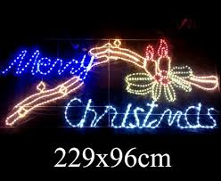 led merry christmas light sign led merry christmas candle motif lights with controller 229x96cm