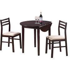 Coaster Dining Room Sets Coaster 3 Piece Breakfast Dining Set Cappuccino Walmart Com