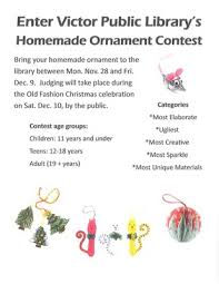 ornament contest victor library