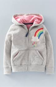 mini boden applique front zip hoodie toddler girls little girls