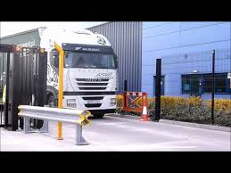 trackless bi folding speed gates by eagle automation youtube