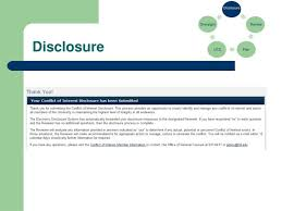 ppt conflict of interest policy u0026 disclosure process powerpoint
