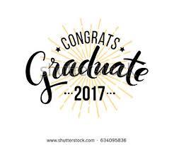 congratulations graduate 2017 vector isolated elements stock