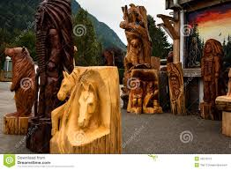 wood carving statues editorial stock photo image of columbia