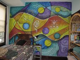 excellent abstract wall mural home design 928 painting a colorful abstract mural mssurreal com