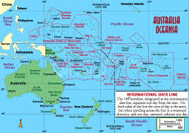 map of australia and oceania countries and capitals oceania countries political map