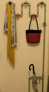 entryway rack using plumbing pipes apartment therapy