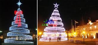 led christmas tree led spiral tree white outdoor lighted christmas trees