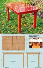 Wood Plans Outdoor Table by Parsons Table Plans Furniture Plans And Projects Woodarchivist