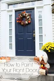 a simple fall house update how to paint an exterior door front