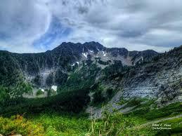 Rugged Mountain Range Kootenai Country Montana Hiking