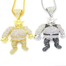 necklace pendant size images 2 colors bling bling iced out large size cartoon movie pendant hip jpg