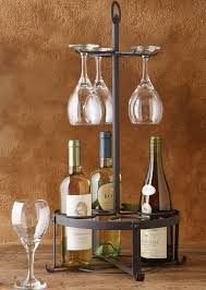 black wine rack and wine glass holder antique farmhouse