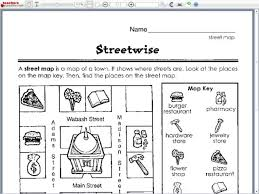 all worksheets map worksheets for third grade printable