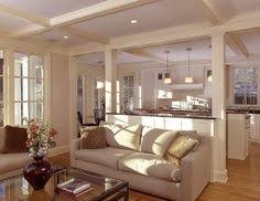 Kitchen Living Space Ideas Molding On Kitchen To Living Room Pass Through Home Decor Diy
