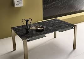 Glass And Metal Sofa Table Contemporary Table Glass Metal Marble Livingstone By