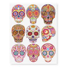 sugar skull temporary tattoos day of the dead sugar skulls and