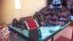 christmas crib decoration with a rain forest waterfall theme youtube
