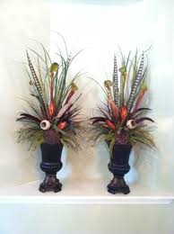 floral arrangements for an entryway table using tall grass