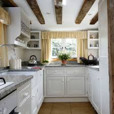 Country Kitchen Remodel Ideas White Country Galley Kitchen
