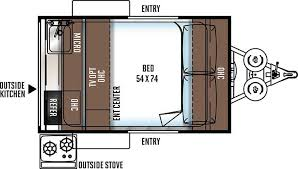 Rockwood Trailers Floor Plans Rockwood Geo Pro 12rk Travel Trailers The Great Outdoors Rv