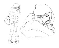 drawn hug anime pencil and in color drawn hug anime